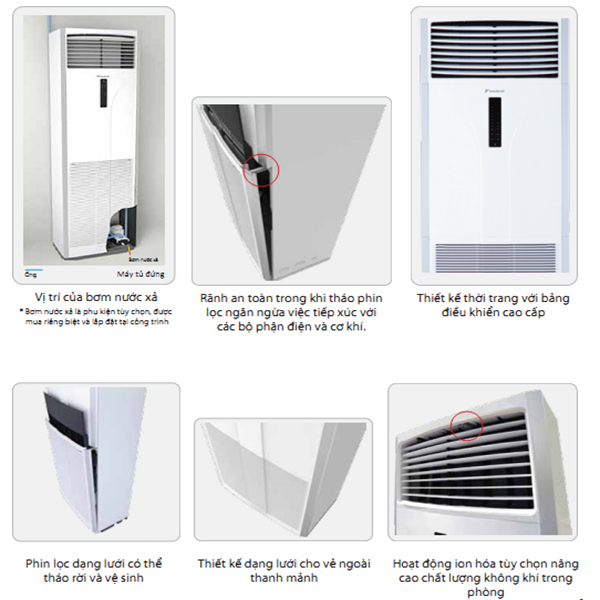 Điều hòa tủ đứng daikin thiết kế đơn giản